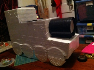 Taking shape, starting to see a Thomas the Train