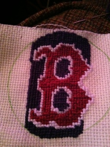Rob's Red Sox Hat in Progress